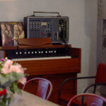 A Portable Neve mixer and a pedal organ